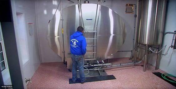Hoffman Dairy Farm Indoor Milk Tank