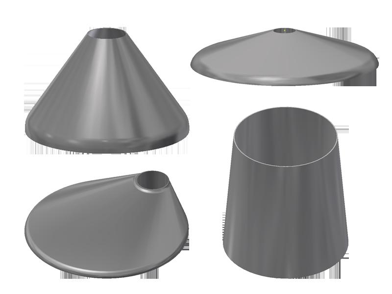 kegels en konische tankdeksels torisch excentrisch concentrisch