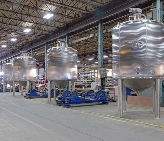 Afwerking voor voedseltoepassingen op roestvaststalen tanks
