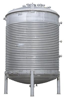 Speciale verwerkingstank met halve pijp voor warmtewisseling