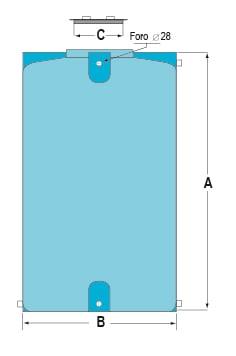 Tekening-verticale-opslagtanks